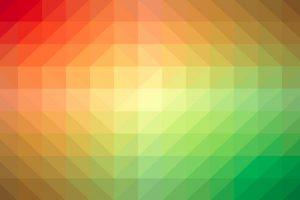 spectru geometric de culori calde si reci