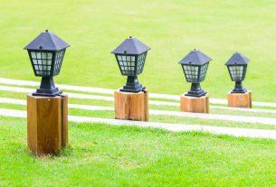 set de 4 lampi solare metalice